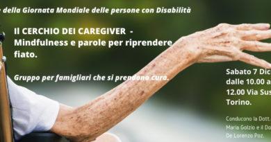 Il cerchio dei Caregiver – mindfulness e parole per riprendere fiato